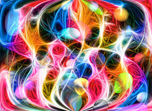 Coloured bright abstraction Stock Image