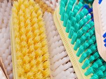 Coloured brushes Stock Photos