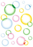 Coloured bubbles Stock Photography
