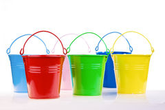 Coloured buckets Royalty Free Stock Image