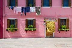 Coloured Burano's House Stock Photos