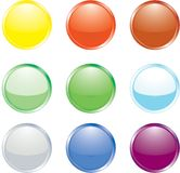 Coloured Buttons Royalty Free Stock Photos