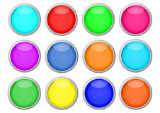 Coloured buttons for icons Royalty Free Stock Image