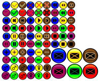 Coloured buttons Royalty Free Stock Image