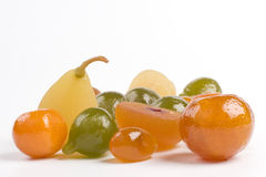 Coloured candied fruits Royalty Free Stock Image