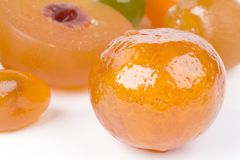 Coloured candied fruits Stock Photo