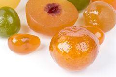 Coloured candied fruits Stock Image