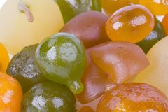 Coloured candied fruits Stock Photos
