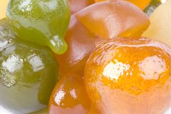 Coloured candied fruits Royalty Free Stock Photography