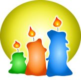 Coloured Candles Royalty Free Stock Image