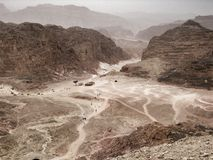 Coloured canyon in Egypt Royalty Free Stock Photo