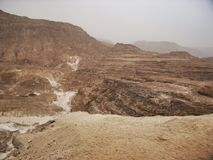 Coloured canyon in Egypt Stock Images