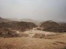 Coloured canyon in Egypt Stock Photos