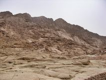 Coloured canyon in Egypt. The color Canyon is located in the southeast of the Sinai Peninsula, on a plateau of Et-Tikh in Sinai mountains, to the northwest of Stock Images