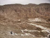 Coloured canyon in Egypt Stock Image