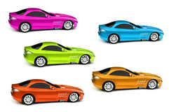 Coloured cars Royalty Free Stock Photography