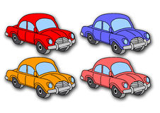 Coloured cars (vector) Stock Images