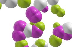 Coloured cells / atoms. Coloured chemistry / science cells / atoms / nucleus Stock Image