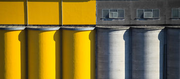 Coloured cement silos Stock Image