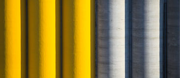 Coloured cement silos Stock Photo