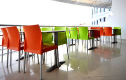 Coloured chairs Royalty Free Stock Images