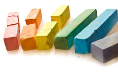Coloured chalk Royalty Free Stock Image