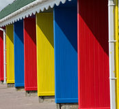 Coloured changing rooms Stock Photography