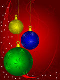 Coloured Christmas Baubles Stock Images