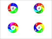 Circle infographics 3, 4, 6, 8 Option. Coloured Circle infographics 3, 4, 6, 8 Option for presentation Vector Illustration