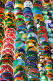 Coloured clay bowls Royalty Free Stock Photography