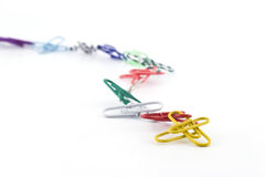 Coloured clips Stock Image
