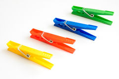 Free Coloured Clothes-pegs 1 Royalty Free Stock Image - 13330236