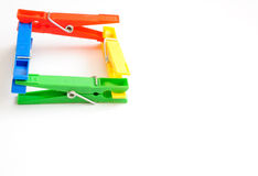 Coloured clothes-pegs 2 Stock Photography