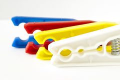 Coloured clothes pegs Royalty Free Stock Image