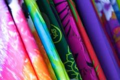 Coloured cloths on sale Royalty Free Stock Photos
