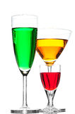 Coloured cocktail or wine Stock Image