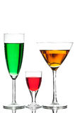 Coloured cocktail or wine Royalty Free Stock Photo