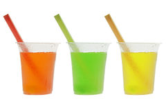 Coloured cold drinks Royalty Free Stock Images