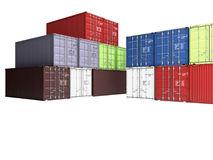 Coloured containers Stock Photography