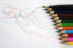 Coloured crayon. With white background royalty free stock images