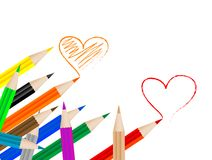 Coloured crayons Stock Photography