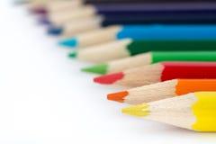 coloured crayons Стоковые Фотографии RF