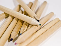 coloured crayons 库存照片