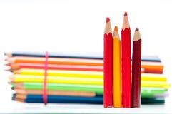 coloured crayons 免版税库存图片