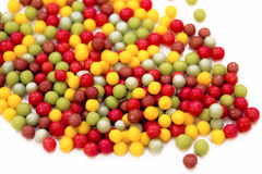 Coloured Crispy -1. Coloured Rice Crispy for the sweety foods stock photo