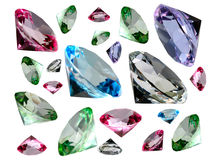 Coloured Crystalls Stock Photography
