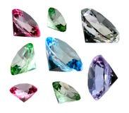 Coloured Crystalls Royalty Free Stock Photos