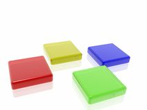 Coloured cubes Stock Photography