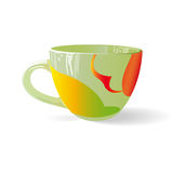 Coloured cup 003. White background Stock Image