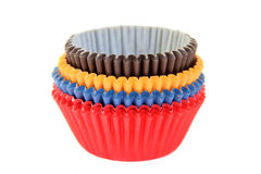 Coloured cupcake baking cups Royalty Free Stock Photography